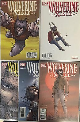Set of 5: Wolverine X-Isle # 1 - 2 - 3 - 4 - 5 Complete Marvel 2003 VF#