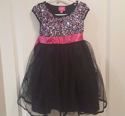 PINKY Girls Size 5 Dress Dressy Party Fancy Sequins Spring/Summer Lot 10-6