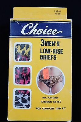 Vtg 1980s Choice Low-Rise Briefs Large 3-Pack underwear not worn deadstock