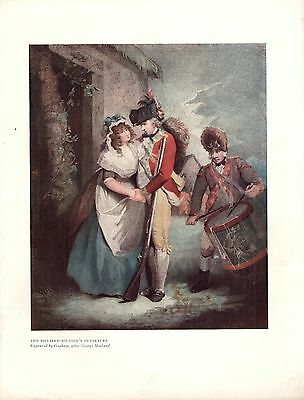 Napoleonic Wars The Billoted Soldier's Departure Antique Illustration 1909