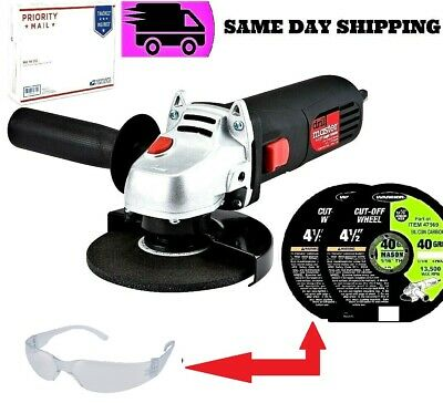 """Electric Metal Cut Off Tool (4-1/2"""") W/3 4-1/2"""" Cutting Disks & Safety Glasses"""