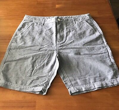 Men's Shorts Grey Size 87 Slim Fit