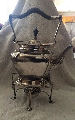 Antique Silver Plated Spirit Kettle By Roberts & Belk, Sheffield England C.1890