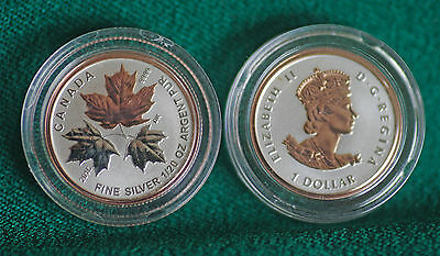 2016 CANADA $1 Silver Maple Leaf 1/20 oz Reverse proof from Fractional set
