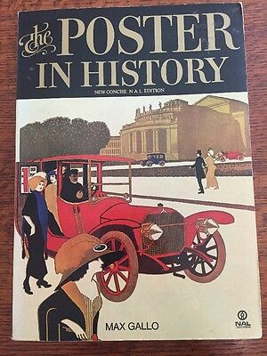 The Poster in History by Max Gallo (1975, Paperback) NAL Edition VINTAGE!