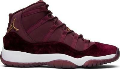 d9f0bc3ad651e6 NIKE AIR JORDAN 11 XI RETRO GS HEIRESS 852625-650 MAROON RED VELVET ...