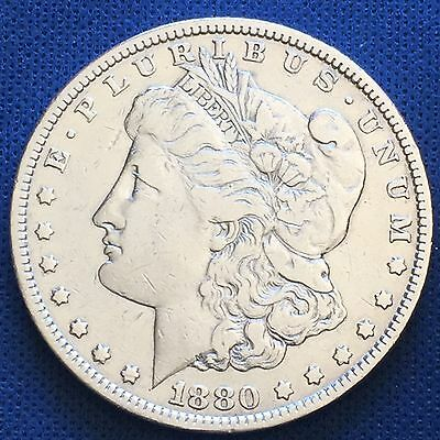 1880 Morgan Silver Dollar $1 Coin 90% #4