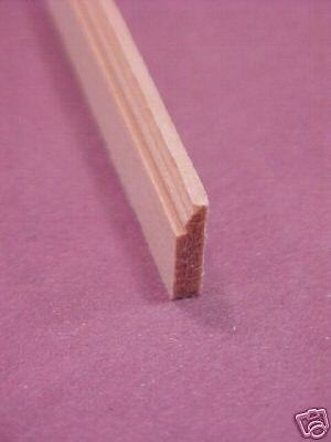 Baseboard Molding #4 -  dollhouse miniature trim 6 pieces 1-12 scale MW12004