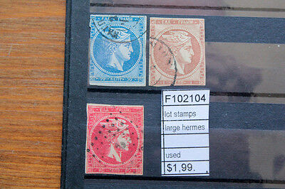 Lot Stamps Greece Large Hermes Used (F102104)