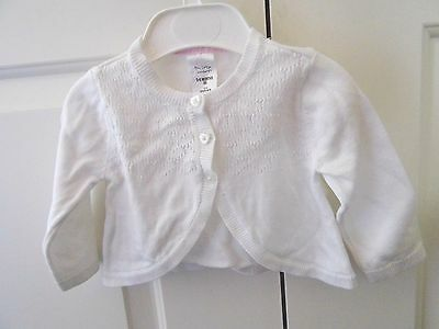 Baby Girl Cotton Knit Cardigan Top Size 3-6 Mths Euc