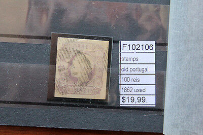 Stamps Old Portugal 100 Reis 1862 Used (F102106)