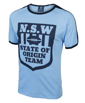 New South Wales NSW Blues State Of Origin Retro Logo T Shirt Sizes S-5XL! 6