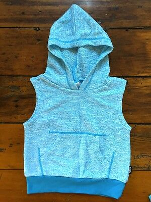 BNWOT Size 0 Bonds electric blue marle terry towelling sleeveless hoodie