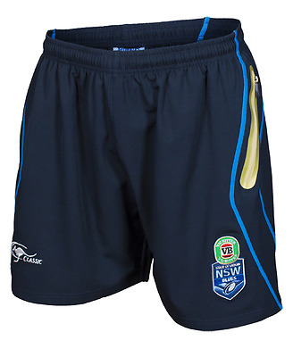 NSW Blues State Of Origin NRL 2017 Players Training Shorts Adults & Kids Sizes!