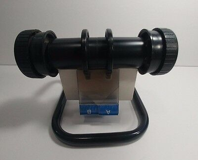 Large Rolodex Open Rotary Business Card File Index Holder Black Metal Organizer