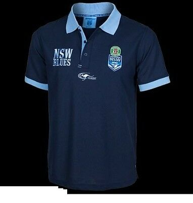 New South Wales Blues Supporters Polo Shirt Sizes S-XL! BNWT's!4