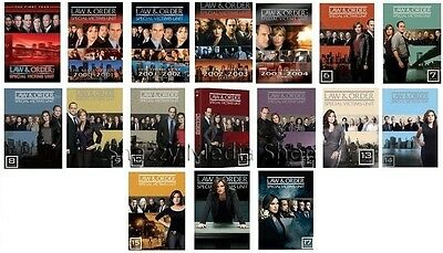 New & Sealed! Law & Order SVU Complete Seasons 1 - 17 DVD Special Victims Unit