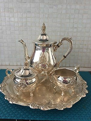 Silver Plate Viners Tea Service & Tray, in great condition.
