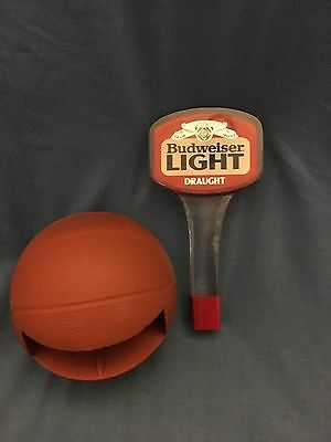 Vintage BUDWEISER LIGHT Beer Tap Handle Bud Light Draft Draught Basketball NCAA