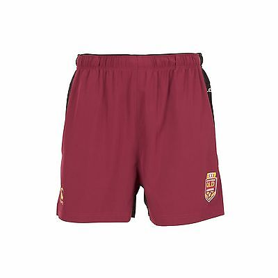 QLD Maroons State Of Origin 2017 CCC Players Perforated Shorts Size S-4XL!