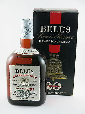 Bell's 20 Year Old Royal Reserve Blended Scotch Whisky 1960s Boxed Very Rare