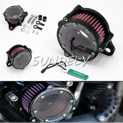 AU CNC Air Cleaner Intake Filter For Harley Sportster iron XL 883/1200 48 custom