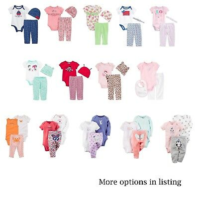 NEW NWT Carter's or 1st Impressions 3 Piece Set Layette Pants Bodysuit Hat