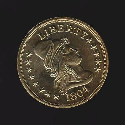 1804 turban head    UNC  24k Gold Plated Tribute Coin (COPY)  COIN