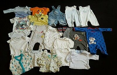 Bundle of baby boys clothes 0-3months
