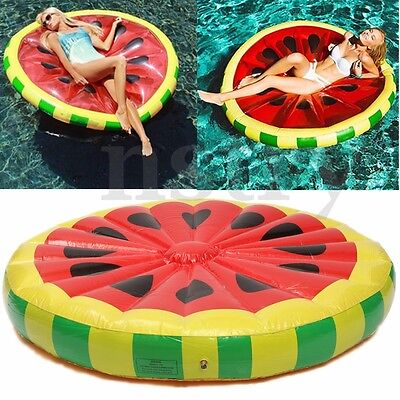 Watermelon Floating Swimming Ring Float Inflatable Pool Beach Toy Water Bed Raft