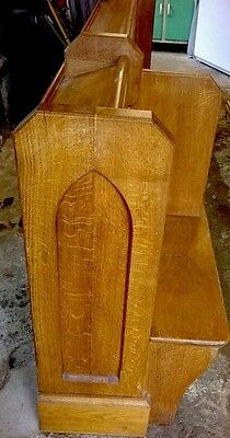 Victorian Oak Church Pew With Book Holder In Perfect Condition