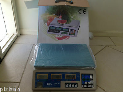 Kitchen Scale Digital not Commercial Shop Electronic Weight Scales Food 40KG