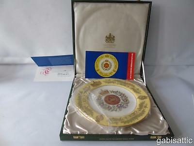 Cased Spode Ltd Ed 305/500 Gloucestershire Regiment Encrusted Service Plate 27cm