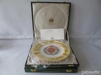 Cased Spode Ltd Ed 253/500 Gloucestershire Regiment Encrusted Service Plate 27cm