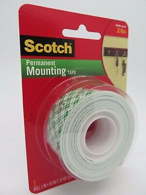 2 x 3M 114 Double Sided Foam Mounting Tape 25.4mmx1.27M 70005087427