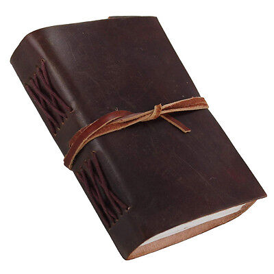 Simple Leather Cover Handmade Peasant Diary Journal Book