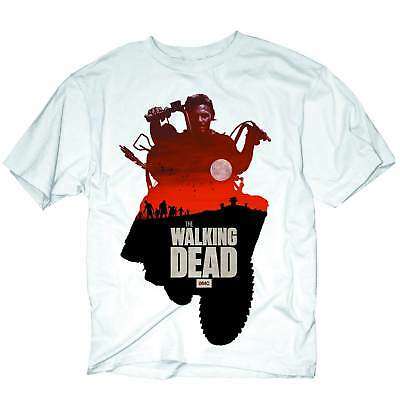 The Walking Dead Daryl Silo Mens White T-Shirt