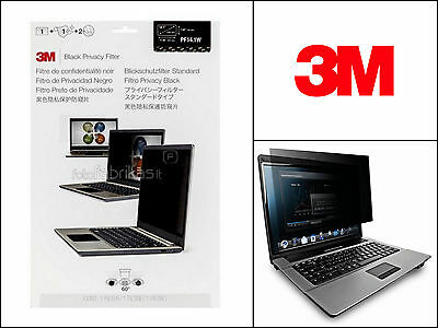 3M PF14.1W Laptop Notebook Black Privacy Filter (14.1 inch)