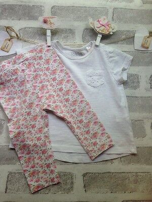 Baby Girls Zara Top & H&M Leggings Age 3-6 Months