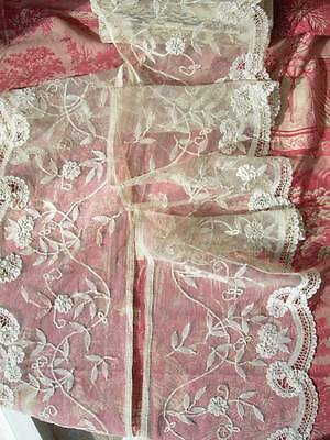 Collection handmade antique Belgian lace...264cms Brussels Applique