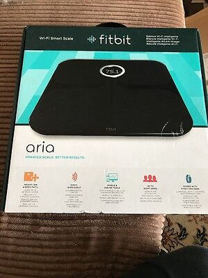 Fitbit Aria Wi-Fi Smart Scale Bathroom Clever Scales Fitness Gadget Gift