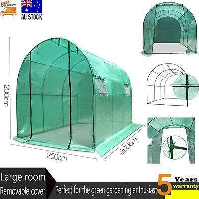 Large Walk In GREENHOUSE Green House Plant Shed PE Cover Arch Garden Roof Tunnel