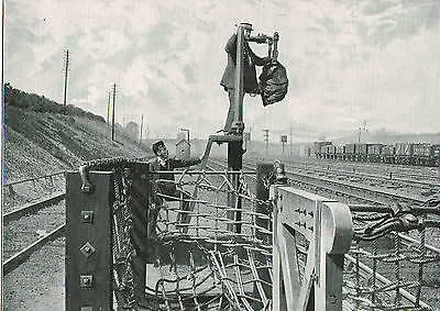 Waiting For The Mail Train, Bletchley, Buckinghamshire 1899 Antique Print #012