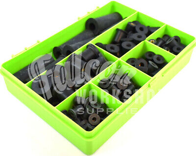 171 Assorted Piece M3 M4 M5 M6 M8 M10 Black Rubber Rub Nut Well Nuts Rivet Kit