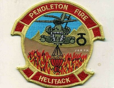 "Marines - Camp Pendleton  Helitack  Wildland, CA  (4.25"" x 4"" size) fire patch"