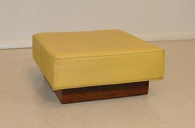 Mid-Century Modern Footstool with Teak Base by Milo Baughman for Thayer Coggins