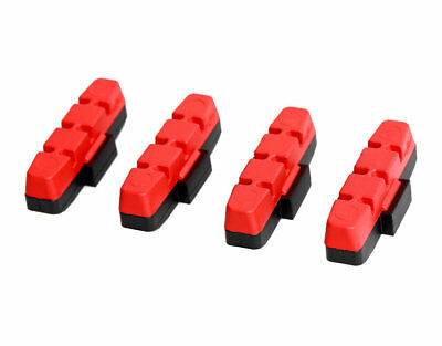 Genuine Magura Rim Brake Pads - Red - Race - Set Of 4 Pads For HS11, HS22 & HS33