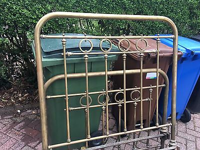 Antique Victorian  Brass Bedstead shabby chic