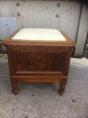 Edwardian Commode Stool With Footrest