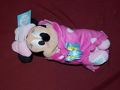 Disney Parks Disney's Babies Minnie Mouse Plush Baby Doll and Blanket New